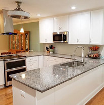 Our designer did an amazing job giving this family an open kitchen with plenty of counter