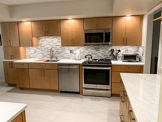 Modern maple slab door kitchen remodel in Longwood FL