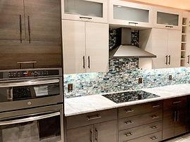 Two tone frameless kitchen remodel in Winter Springs