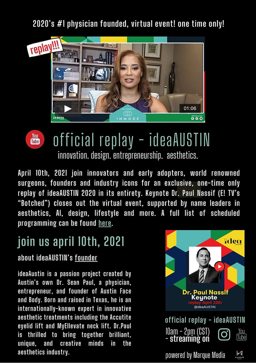 ideaAUSTIN Replay Announcement  April 10