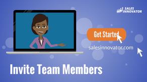 Invite Team Members To Sales Innovator