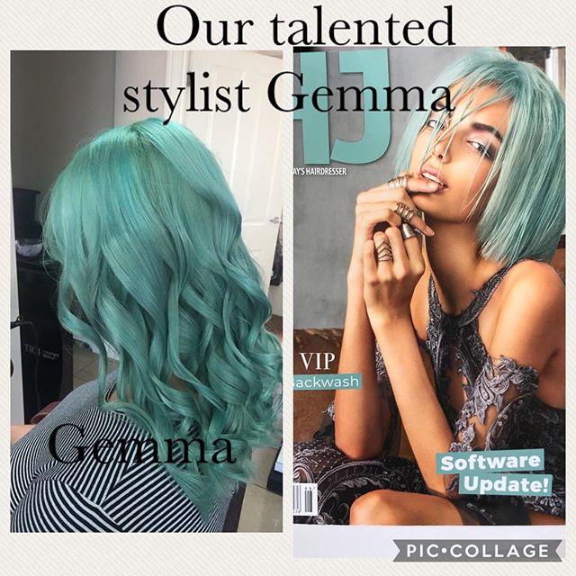 Bang on trend our talented Gemma #hairst
