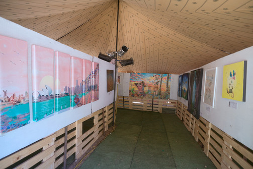Exhibition at Earthcore Festival