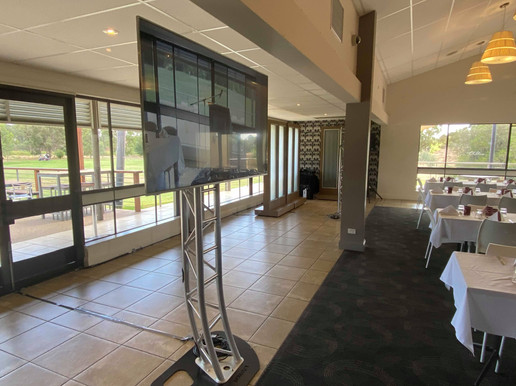 Wodonga Football Club Corporate presentation with Vision and TVs provided for Breakout room.