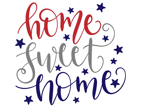 Home Sweet Home (4th of July theme)