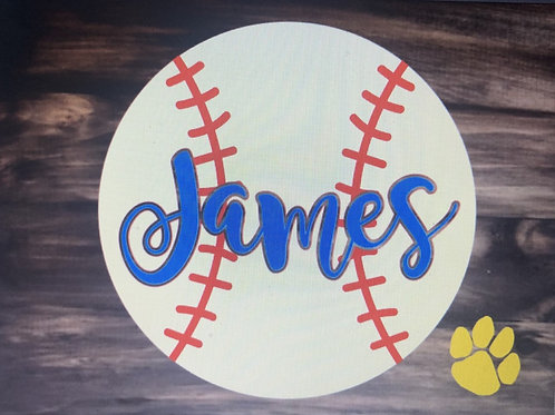 Personalize Baseball