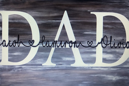 Dad Personalized Sign