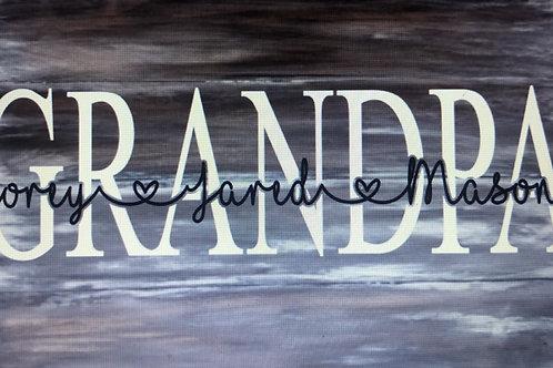Grandpa Personalized Sign