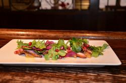 Duck, salad & pomegranate