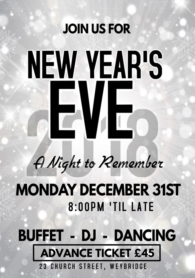 NYE party tickets now available!