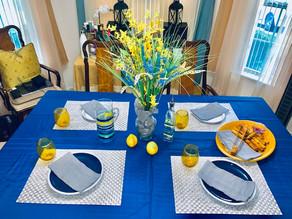 Indoor Summer Tablescape