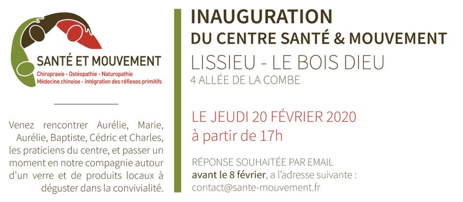 Inauguration du Centre Santé et Mouvement, à Lissieu (69380)
