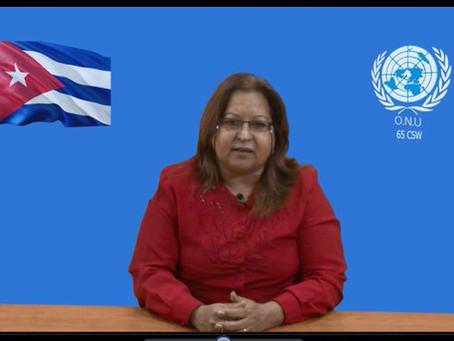 Intervención de la delegación de Cuba a la 65 sesión de la CSW