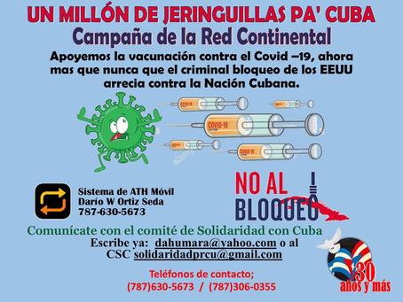 Campaña Mundial en solidaridad con Cuba