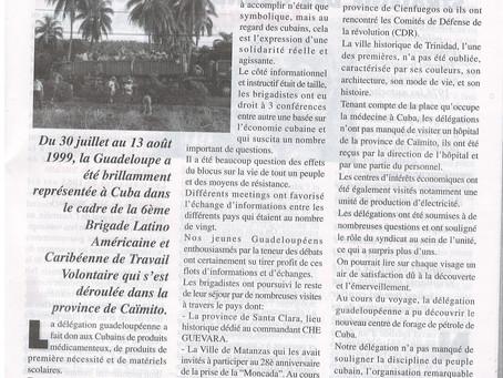 6ème Brigade de solidarité Guadeloupe /Cuba