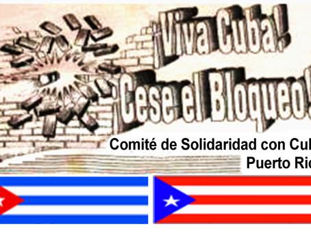 Se suma Puerto Rico al reclamo mundial para que cese el bloqueo a Cuba