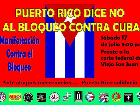 Puertorriqueños reclaman fin del bloqueo imperial contra Cuba