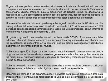 Llamamiento a la Solidaridad con Cuba