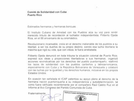 NOTA DEL ICAP EN HOMENAJE 88 NATALICIO FILIBERTO OJEDA