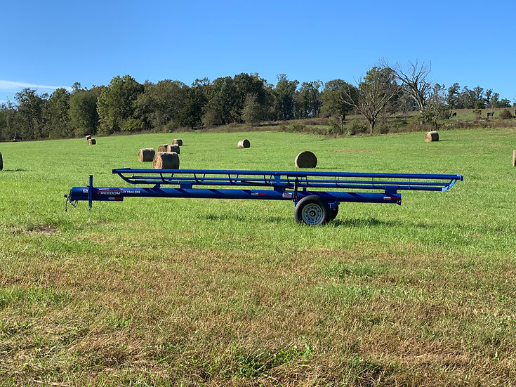 25' Bumper Pull Single Row Hay Trailer