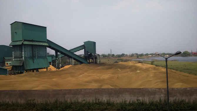 Rice husks in India