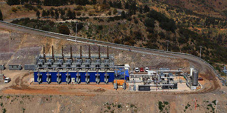 the Santa Marta landfill and biogas project site in Chile