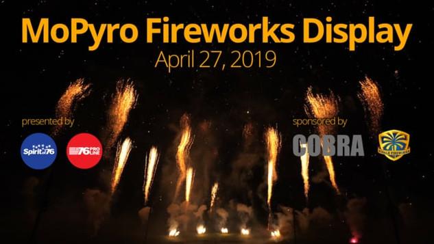 MoPyro Fireworks Display - April 27, 2019