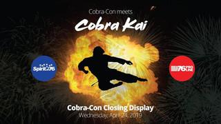 Cobra-Con 2019 Closing Display