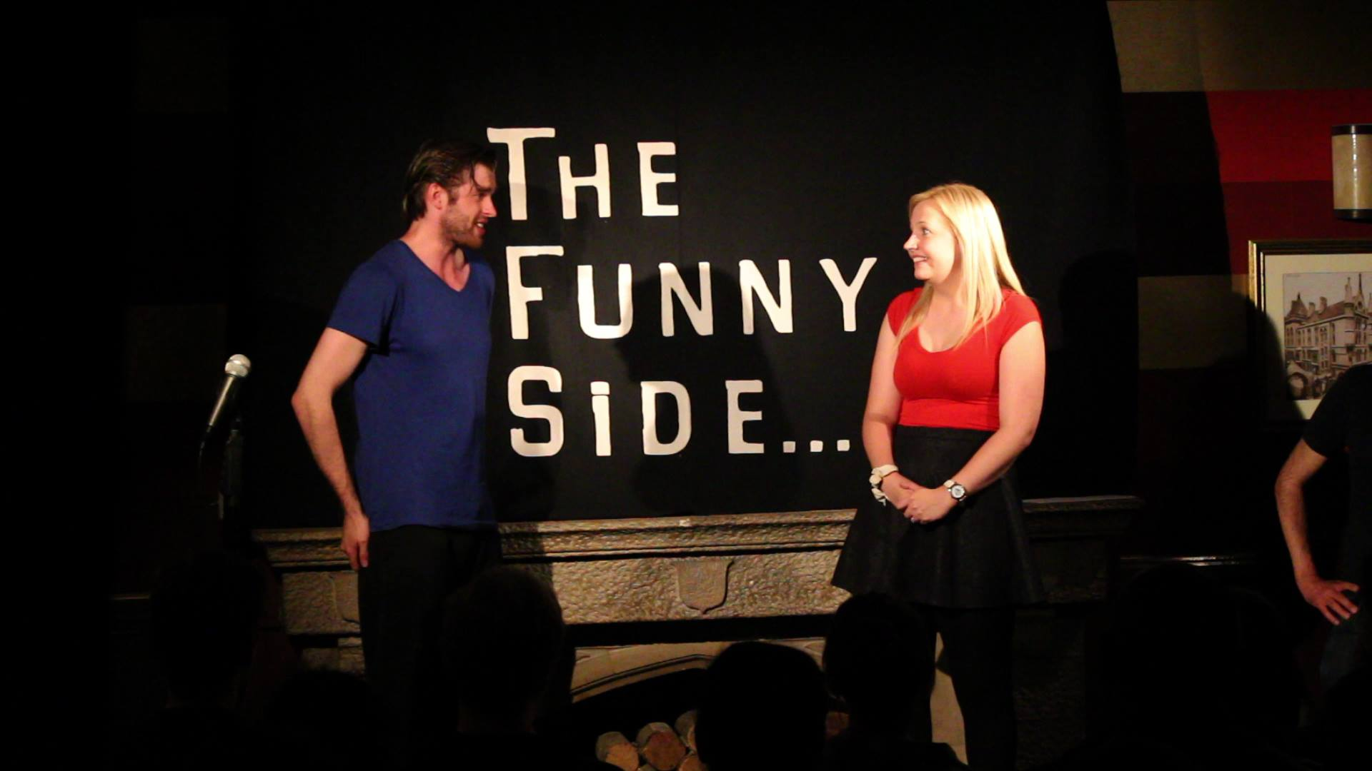 Lauren and James at The Funny Side