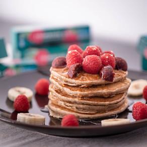 La recette des pancakes healthy fourrés One Ball framboise chia