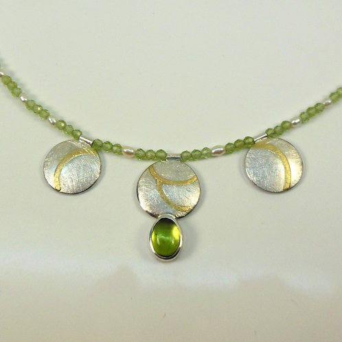 Halskette mit Peridot