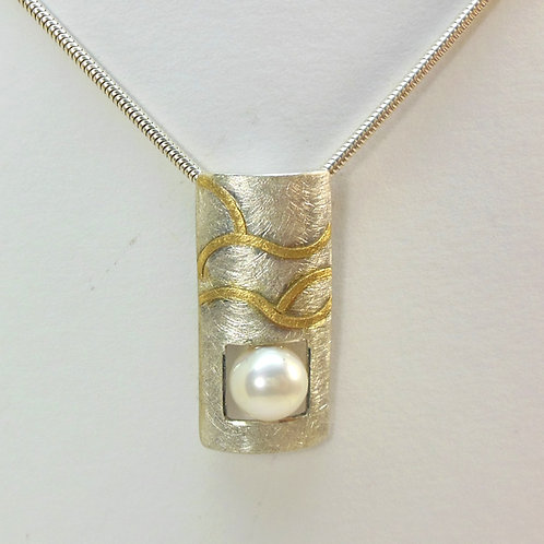 Halskette Anhänger mit Perle, Perlenschmuck