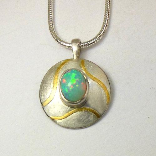 Halskette Anhänger mit Opal