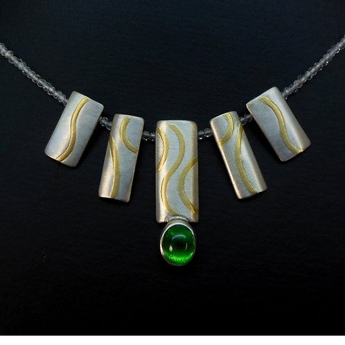 Halskette Anhänger mit Turmalin