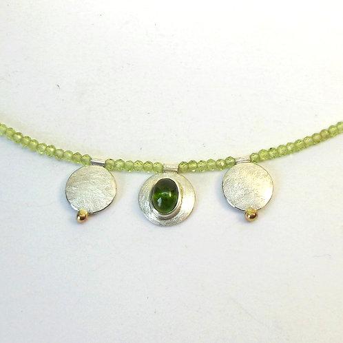 Halskette mit Turmalin und Peridot