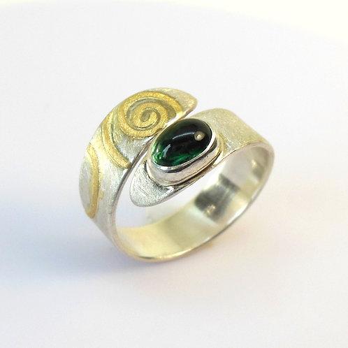 Ring mit grünem Turmalin  RT1
