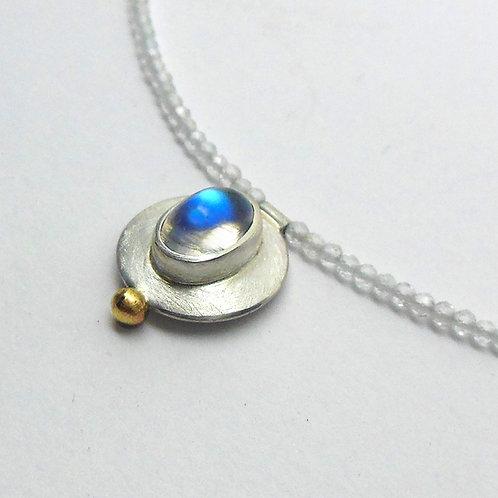 Halskette mit Mondstein