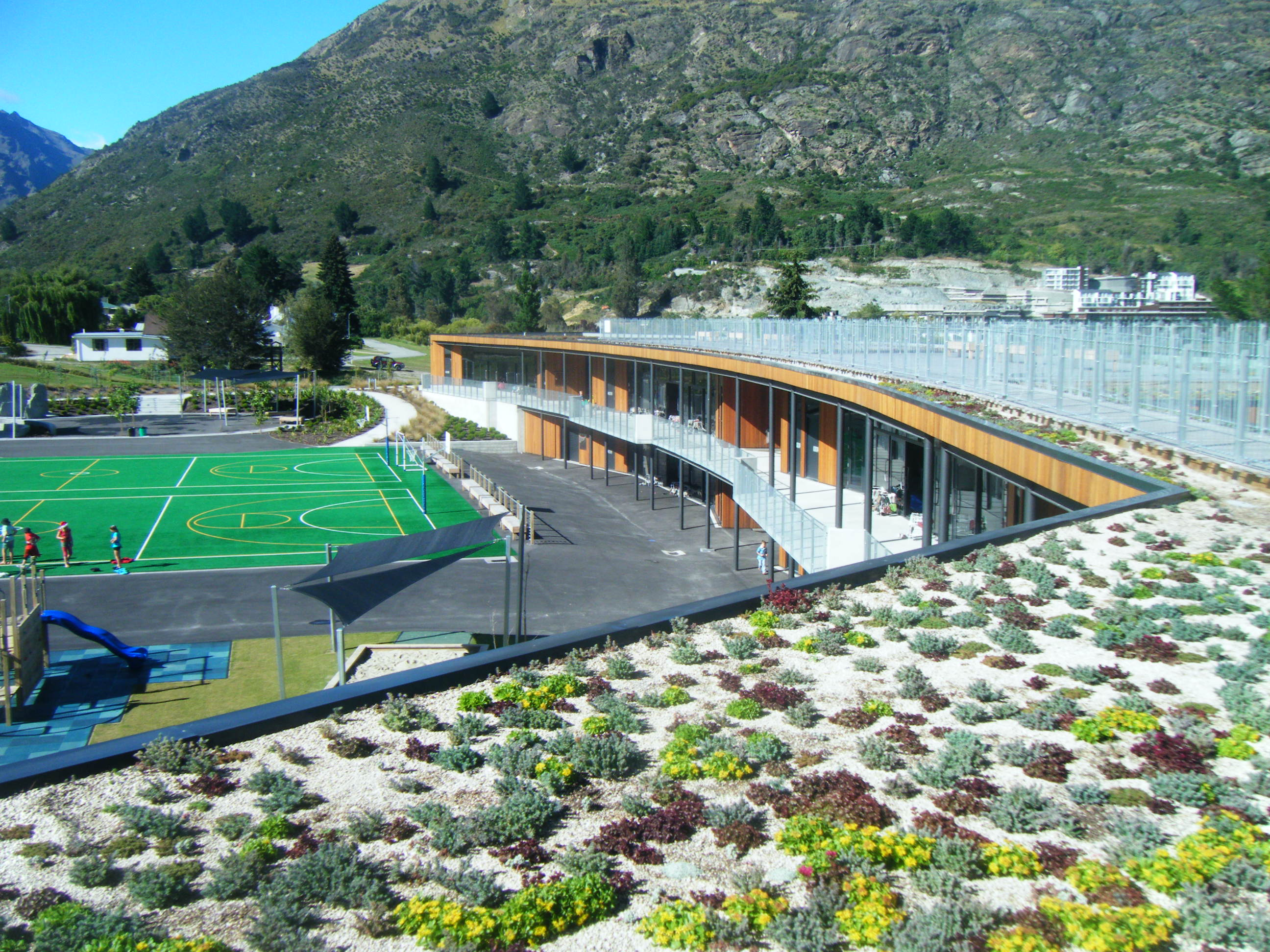 Remarkables School green roof - Queensto