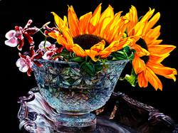 Sunflowers & Crystal by Soon Warren