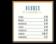 Affiche d'heures d'ouverture pour Pâtisserie Juste une fois