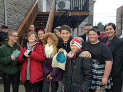 Justin Trudeau with BPL Youth