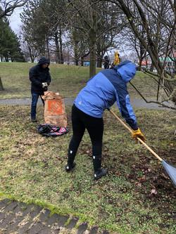 Volunteers at Community Clean-up