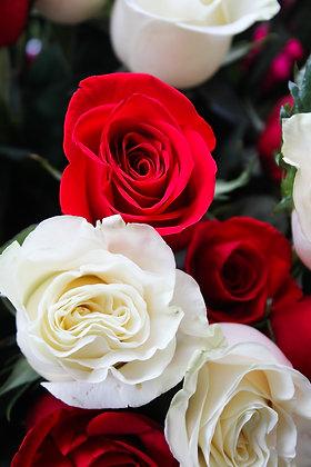 Bouquet de 6 roses