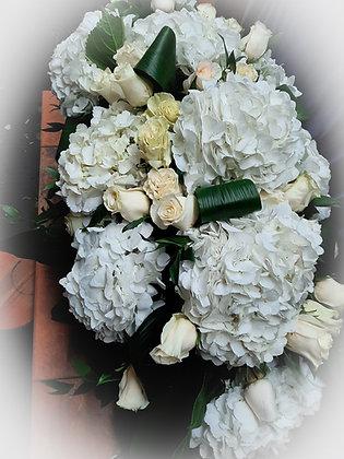 Coussin floral pour cercueil