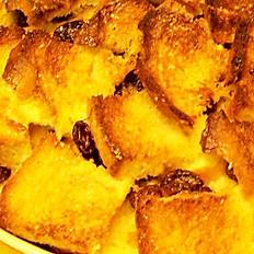 Brioche, marmalade & blood orange cointreaux, bread and butter pudding