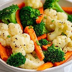 Steamed buttered vegetables