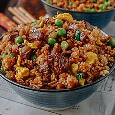 Spiced lamb with rice