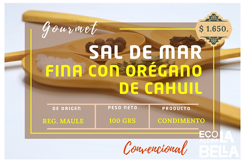 Sal de mar c/oregano Cahuil