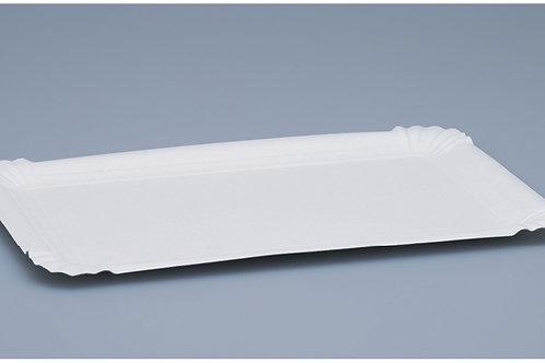 Wurstteller weiss 500 Stk. 17x23 cm