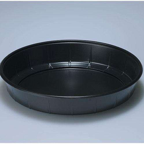Salat/Traiteurplatte PS, schwarz, 500 Stk. 18 cm